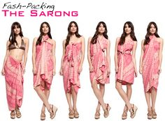 Traveling?  Don't forget that sarong | travel beach fashion + sarong, easy, fast and so many ways to wear it!