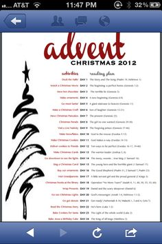 Advent calendar ideas. I like incorporating the bible with activities-makes it more meaningful.