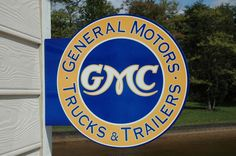 OLD STYLE GMC CHEVROLET TRUCKS GENERAL MOTORS DICUT THICK STEEL SIGN MADE IN USA