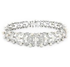 FD GALLERY | Rare & Vintage | A Belle Epoque Natural Pearl and Diamond Choker Necklace, circa 1905