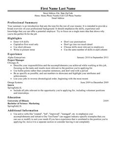 Free Resume Samples Easy And Free Resume Templates  Free Resume Templates  Pinterest .