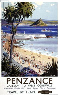'Penzance, Gateway to West Cornwall', poster advertising British Railways (colour litho)