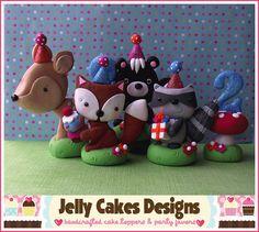Woodland Birthday Party Keepsake Cake Topper by jellycakesdesigns, $60.00