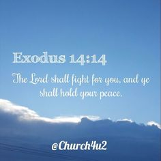 """Exodus 14-14 """"The Lord shall fight for you and ye shall hold your peace."""" #KingJamesVersion #KingJamesBible #KJVBible #KJV #Bible #BibleVerse #BibleVerseImage #BibleVersePic #Verse #BibleVersePicture #Picture #Pic #Image #KJVBibleVerse #DailyBibleVerse"""
