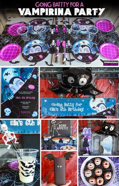 Going Batty for a Vampirina Party Cute Birthday Ideas, 1st Birthday Party For Girls, Tea Party Birthday, Halloween Birthday, Third Birthday, Birthday Party Decorations, Party Party, Birthday Cakes, Minnie Mouse Party
