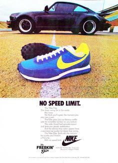 Nike Shoes OFF! ►► Vintage 1978 Nike Elite sneaker ad @ The Freakin Ekin Vintage Sneakers, Retro Sneakers, Classic Sneakers, Vintage Shoes, Sneakers Nike, Cute Nike Shoes, Cute Nikes, Vintage Nike, Vintage Ads