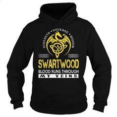 SWARTWOOD Blood Runs Through My Veins (Dragon) - Last Name, Surname T-Shirt - #gifts for boyfriend #funny shirt
