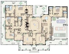 Floor plan for ranch style home with wrap around porch. Love this!