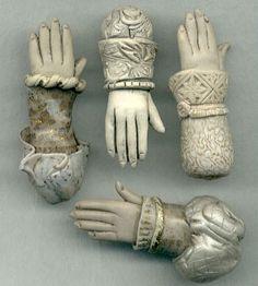 polymer clay hand beads