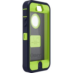 OtterBox Defender Series Case for iPhone 5 (Discontinued by Manufacturer) - Blue/Lime Green:Amazon:Cell Phones & Accessories
