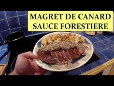 Magret de canard sauce forestière et pomme de terre sautée à l'ail HD 1080p FR…