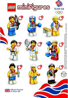 Lego - London Olympics - Team QB Mini Figures - 2012