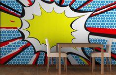 Comic Book Bang Wall Mural | Murawall