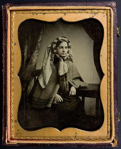 Quarter plate ambrotype of a beautiful young girl