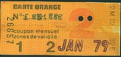 Paris, 1979. Carte Orange