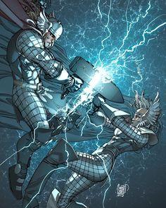 Thors   Marte Garcia  #captainamericacivilwar #marvelcomics #Comics #comicbooks #avengers #marvel  #captainamerica #ironman #thor #hulk #hawkeye #blackwidow #spiderman #vision #scarletwitch #civilwar #spiderman #infinitygauntlet #blackpanther #guardiansofthegalaxy #deadpool #wolverine #daredevil #xmenapocalypse #xmen #cyclops #magneto #drstrange #infinitywar #Thanos http://ift.tt/1P2xXaC