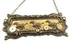 Running Free ... Steampunk Victorian Zebra  Necklace   One of a Kind Creation by JewelsByNature on Etsy