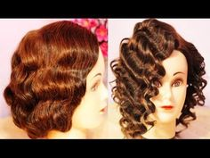 NO Heat Curls Waves- Retro-Flapper Finger Waves for Short Hair (Inspired) -Beautyklove - YouTube