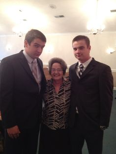 Two very tall grandsons