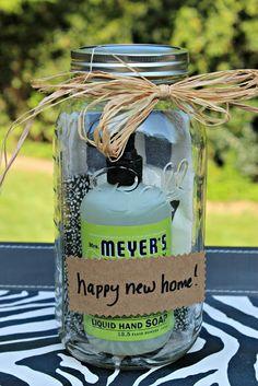 Mason Jar Housewarming Gift...cute, clever, & useful