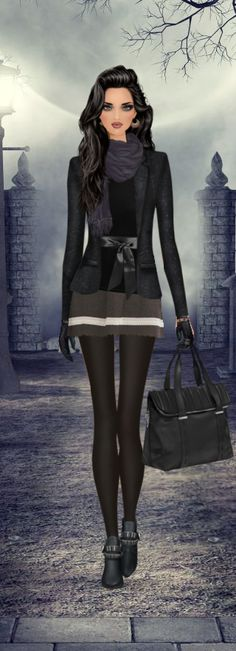 Bewitching Hour ~> With only Winter 2013 items and a Lulu it Chains item/ 3purple items.