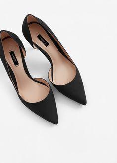 Asymmetric stiletto shoes - Woman