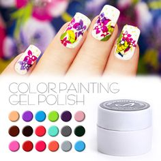 China factory DIY 36 Colors Drawn Painting Gel Polish White Gold Gel Ink Soak Off No Odor Vernis Semi Permanent Color UV Gel