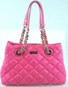 Kate Spade New Your Gold Coast Small Maryanne Quilted Leather Pink Purse