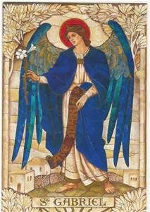 Archangel Gabriel Guardian of the West. Element of Water . The four Archangels are called on in many traditions for protection and guidance and healing. Christians, Muslims all honor them. Angels Among Us, Angels And Demons, Catholic Art, Religious Art, Saint Gabriel, Michael Gabriel, I Believe In Angels, Templer, Guardian Angels
