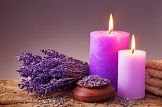 At Sunrise Day Spa in Ballwin, Missouri, we offer a wide variety of wonderful massage and spa services! Contact us today to schedule your luxurious massage. Massage Place, Good Massage, Massage Body, Scented Candles, Pillar Candles, Lavender Candles, Purple Candles, Lavender Crafts, Colors