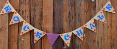 ROCK CHALK Burlap Banner for University of Kansas