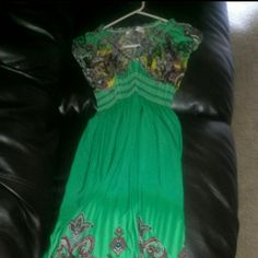 Long green maxi dress Long green maxi dress Dresses Maxi