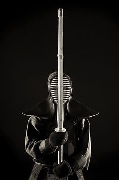 "thekimonogallery: "" Kendo, meaning Way of the Sword, is a Japanese martial art which descended from Kenjutsu "" Kendo, Aikido, Katana Samurai, Samurai Art, Japanese Fence, Japanese Sword, Karate, Pochette Cd, Ju Jitsu"