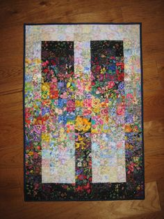 Art Quilt, Garden Window Fabric Wall Hanging