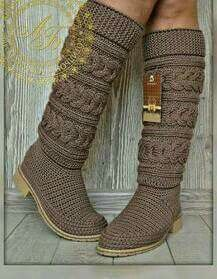 Crochet Boot Socks, Crochet Sandals, Crochet Slippers, Crochet Shawl, Crochet Lace, Knit Shoes, Gorgeous Heels, Crochet World, Boot Cuffs