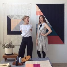 Out of their Hollywood design workshop, Eliza Kena and Claire Oswalt of Hopewell make modern, limited-edition quilts the old-fashioned way.
