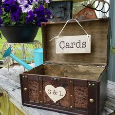 Several CARD Boxes to choose from! The perfect place for your guests to leave your wedding cards. A wonderful keepsake box once the festivities are over.