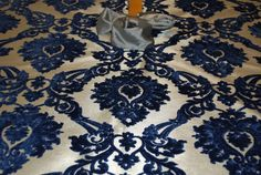 Blue and Silver Christmas Tree Skirt  54 by holidaybyrc on Etsy, $120.00