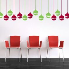 Modern Christmas Ornaments Wall Stickers
