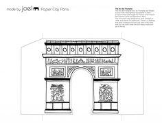 Paper City Paris Arch de Triumphe Template