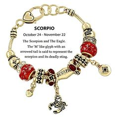 Scorpio Charm Bracelet C52 Clear Crystal Light Red Murano... https://www.amazon.com/dp/B00P00ZMJY/ref=cm_sw_r_pi_dp_x_XBfhAbQ33B7DR