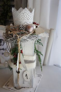 """Adventskranz - Adventskranz """" Ein Licht für Advent....&qu... - ein Designerstück von Hoimeliges bei DaWanda"""
