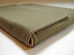 iPad case, iPad cover, iPad sleeve, fits 1, 2, 3, padded bag for tablets - net books--- Army green canvas