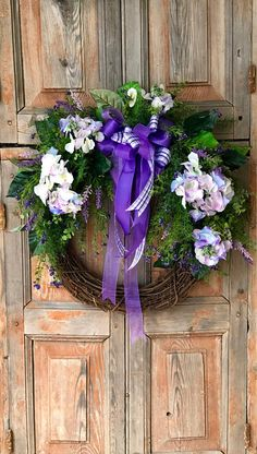 Spring wreath~The Truvy purple spring wreath for front door~easter wreath~Mother's day wreath~hydrangea wreath~Summer wreath~Spring decor
