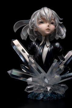 Diamond figure by R. Anime Nerd, Anime Manga, 3d Model Character, Character Design, Art Folder, Anime Figurines, Fairytale Art, Cybergoth, Kawaii