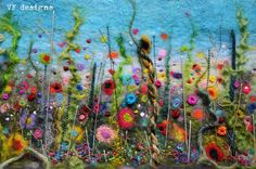 felted and embroidered picture by Vicki of VF Designs