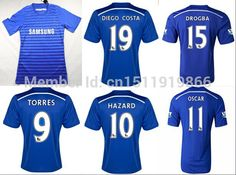 30761f6ef Find More Sports Jerseys Information about 2014 Top fashion Hot sale 2014 15  chelsea home football jersey Thailand best Quality Short Soccer Jerseys  Shirt ...