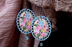 Retro Bijou ... folklorne naušničky Pendant Necklace, Drop Earrings, Retro, Handmade, Jewelry, Souvenir, Hand Made, Jewlery, Bijoux
