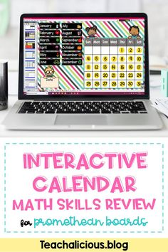 This Interactive calendar for Promethean Boards is the perfect way to review place value, money and counting skills, dates, number and data activities. Save wall space while reinforcing morning routines such as daily morning message and calendar math skills. Ideal for kindergarten and first grade classrooms. Perfect way to review Common Core math concepts. All updates are to this resources are free. #InteractiveCalendar #PrometheanBoards
