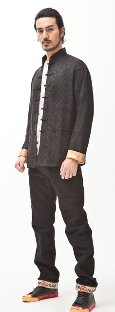 Men Original Traditional Chinese Fashion Tang Suit Style Jacket Top Embroidery National Trend Blouse